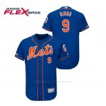Camiseta Beisbol Hombre New York Mets Brandon Nimmo 150th Aniversario Patch Flex Base Azul
