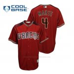 Camiseta Beisbol Hombre Arizona Diamondbacks Ketel Marte Cool Base Alternato Rojo