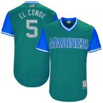 Camiseta Beisbol Hombre Seattle Mariners 2017 Little League World Series Guillermo Herojoia Aqua