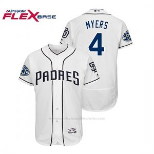 Camiseta Beisbol Hombre Padres Wil Myers 50th Aniversario Home Flex Base Blanco