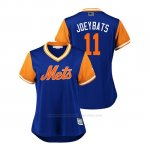 Camiseta Beisbol Mujer New York Mets Jose Bautista 2018 Llws Players Weekend Joeybats Royal