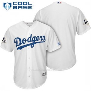 Camiseta Beisbol Hombre Los Angeles Dodgers 2017 World Series Blanco Cool Base