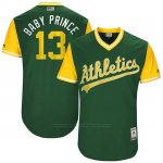 Camiseta Beisbol Hombre Oakland Athletics 2017 Little League World Series Bruce Maxwell Verde