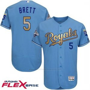 Camiseta Beisbol Hombre Kansas City Royals George Brett Campeones Flex Base