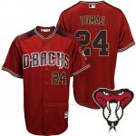 Camiseta Beisbol Hombre Arizona Diamondbacks 24 Yasmany Tomas Rojo Alterno