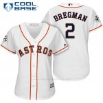 Camiseta Beisbol Mujer Houston Astros 2017 World Series Alex Bregman Blanco Cool Base