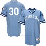 Camiseta Beisbol Hombre Kansas City Royals Yordano Ventura Light Azul Turn Back The Clock