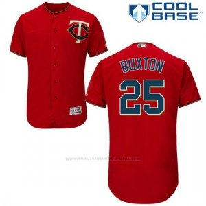 Camiseta Beisbol Hombre Minnesota Twins Byron Buxton Autentico Coleccion Scarlet Cool Base
