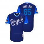 Camiseta Beisbol Hombre Kansas City Royals Jakob Junis 2018 Llws Players Weekend June Bug Royal
