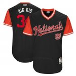Camiseta Beisbol Hombre Washington Nationals 2017 Little League World Series Bryce Harper Azul