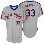 Camiseta Beisbol Hombre New York Mets Matt Harvey Turn Back The Clock Gris