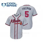 Camiseta Beisbol Hombre Atlanta Braves Freddie Freeman Cool Base Majestic Road 2019 Gris