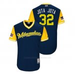 Camiseta Beisbol Hombre Milwaukee Brewers Jeremy Jeffress 2018 Llws Players Weekend Jota Jota Azul