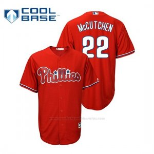 Camiseta Beisbol Hombre Philadelphia Phillies Andrew Mccutchen Cool Base Majestic Alternato Rojo