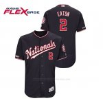 Camiseta Beisbol Hombre Washington Nationals Adam Eaton 150th Aniversario Patch Autentico Flex Base Azul