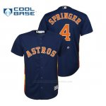 Camiseta Beisbol Nino Houston Astros George Springer Cool Base Alternato Azul