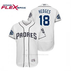 Camiseta Beisbol Hombre Padres Austin Hedges 50th Aniversario Home Flex Base Blanco