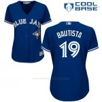 Camiseta Beisbol Mujer Toronto Blue Jays Jose Bautista Cool Base Royal