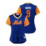 Camiseta Beisbol Mujer New York Mets Brandon Nimmo 2018 Llws Players Weekend Nimms Royal