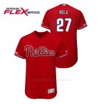 Camiseta Beisbol Hombre Philadelphia Phillies Aaron Nola 150th Aniversario Patch Flex Base Rojo