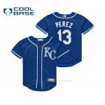 Camiseta Beisbol Nino Royals Salvador Perez Cool Base Replica Alternato Royal