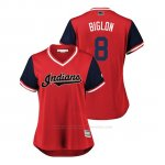 Camiseta Beisbol Mujer Cleveland Indians Lonnie Chisenhall 2018 Llws Players Weekend Biglon Rojo