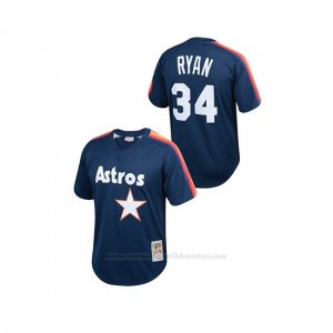 Camiseta Beisbol Nino Houston Astros Nolan Ryan Cooperstown Collection Mesh Batting Practice Azul