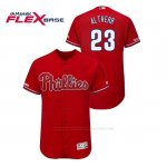 Camiseta Beisbol Hombre Philadelphia Phillies Aaron Altherr 150th Aniversario Patch Flex Base Rojo