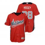 Camiseta Beisbol Nino All Star Game Buster Posey 2018 1ª Run Derby National League Rojo
