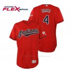 Camiseta Beisbol Hombre Cleveland Indians Bradley Zimmer 2019 All Star Game Patch Flex Base Rojo
