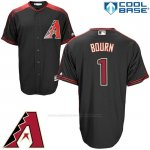 Camiseta Beisbol Hombre Arizona Diamondbacks 1 Michael Bourn Negro Cool Base