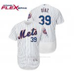 Camiseta Beisbol Hombre New York Mets Edwin Diaz Flex Base Autentico Collezione Home Blanco