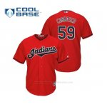 Camiseta Beisbol Hombre Cleveland Indians Carlos Carrasco Cool Base Majestic Alternato 2019 Rojo