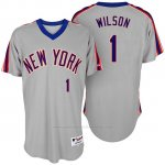 Camiseta Beisbol Hombre New York Mets Mookie Wilson Turn Back The Clock Gris