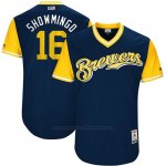 Camiseta Beisbol Hombre Milwaukee Brewers 2017 Little League World Series Domingo Santana Azul