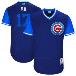 Camiseta Beisbol Hombre Chicago Cubs 2017 Little League World Series 17 Kris Bryant Azul