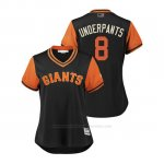 Camiseta Beisbol Mujer San Francisco Giants Hunter Pence 2018 Llws Players Weekend Underpants Negro