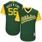 Camiseta Beisbol Hombre Oakland Athletics 2017 Little League World Series Chris Smith Verde