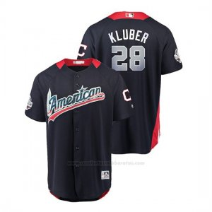 Camiseta Beisbol Hombre All Star Game Cleveland Indians Corey Kluber 2018 1ª Run Derby American League Azul