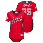 Camiseta Beisbol Mujer All Star Game Brandon Crawford 2018 1ª Run Derby National League Rojo