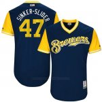 Camiseta Beisbol Hombre Milwaukee Brewers 2017 Little League World Series Jett Bandy Azul