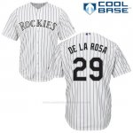 Camiseta Beisbol Hombre Colorado Jorge De La Rosa 29 Blanco Cool Base