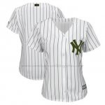 Camiseta Mujer New York Yankees Personalizada Blanco