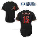 Camiseta Beisbol Hombre Arizona Diamondbacks 15 Mark Trumbo Negro Alterno Cool Base