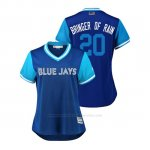Camiseta Beisbol Mujer Toronto Blue Jays Josh Donaldson 2018 Llws Players Weekend Bringer Of Rain Azul
