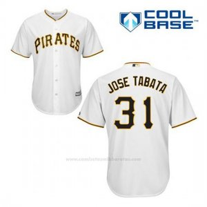 Camiseta Beisbol Hombre Pittsburgh Pirates Jose Tabata 31 Blanco 1ª Cool Base
