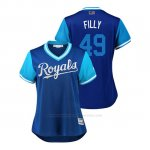 Camiseta Beisbol Mujer Kansas City Royals Heath Fillmyer 2018 Llws Players Weekend Filly Royal