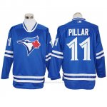 Camiseta Beisbol Hombre Toronto Blue Jays Kevin Pillar Autentico Long Sleeve