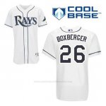 Camiseta Beisbol Hombre Tampa Bay Rays Brad Boxberger 26 Blanco 1ª Cool Base