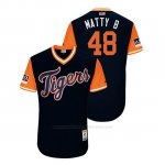 Camiseta Beisbol Hombre Detroit Tigers Matthew Boyd 2018 Llws Players Weekend Matty B Azul